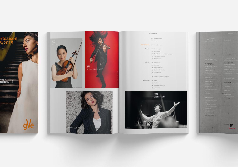 gVe Magazin zur Konzertsaison 18/19 mit Titel und Inhaltsverzeichnis