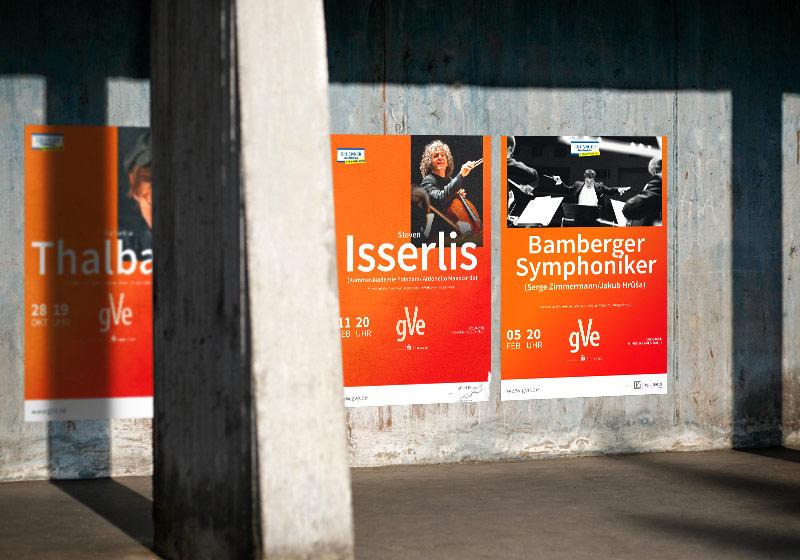 Eine Reihe der gVe Plakate