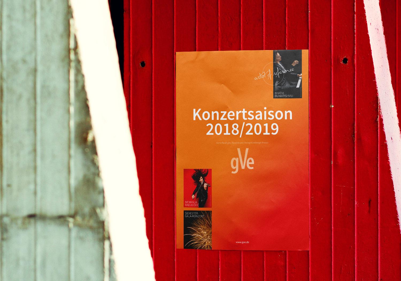 Plakat zur Einstimmung der Konzertsaison 2018/2019 gVe