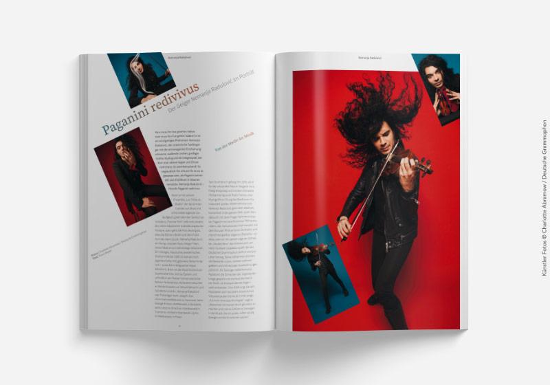 Editorial Design Konzertmagazin Innenseite