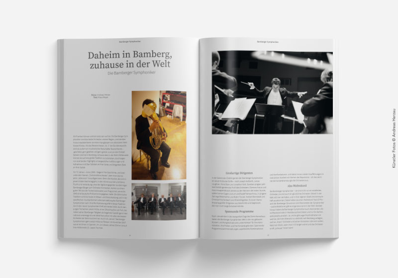 Doppelseite Kundenmagazin mit Text und Bild