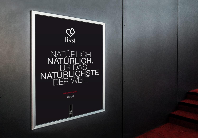 Plakat für das Produkt lissi: Natürlich natürlich, für das natürlichste der Welt.