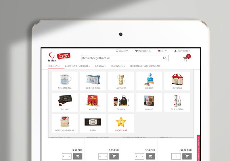 Online Shop Hover Navigation: Mega Menü