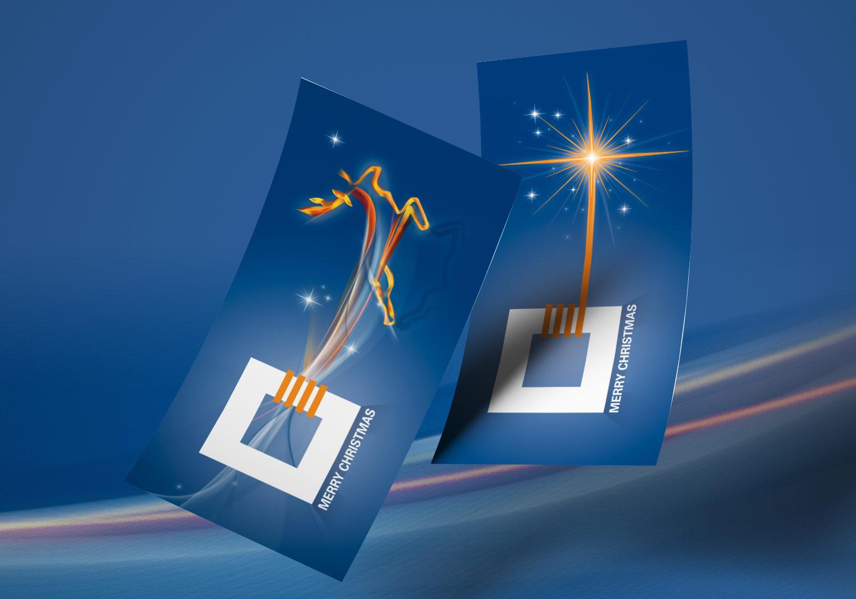 Sangl individuelle Weihnachtskarten auf das Corporate Design abgestimmt
