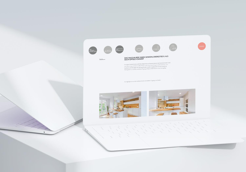 Content-Seite der Wohnkomplizen Website