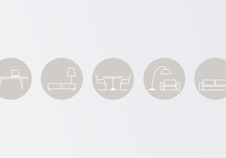 Icon Design von Möbeln