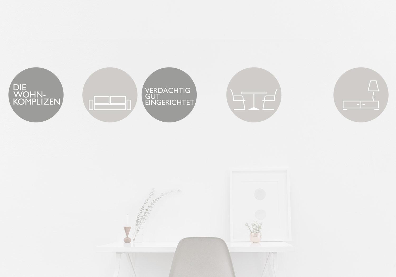 Logo der Wohnkomplizen bestehend aus Icons
