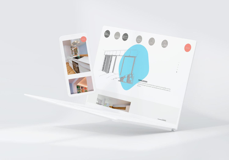Responsive Webdesign für die Wohnkomplizen, Auflösung Desktop und Mobile