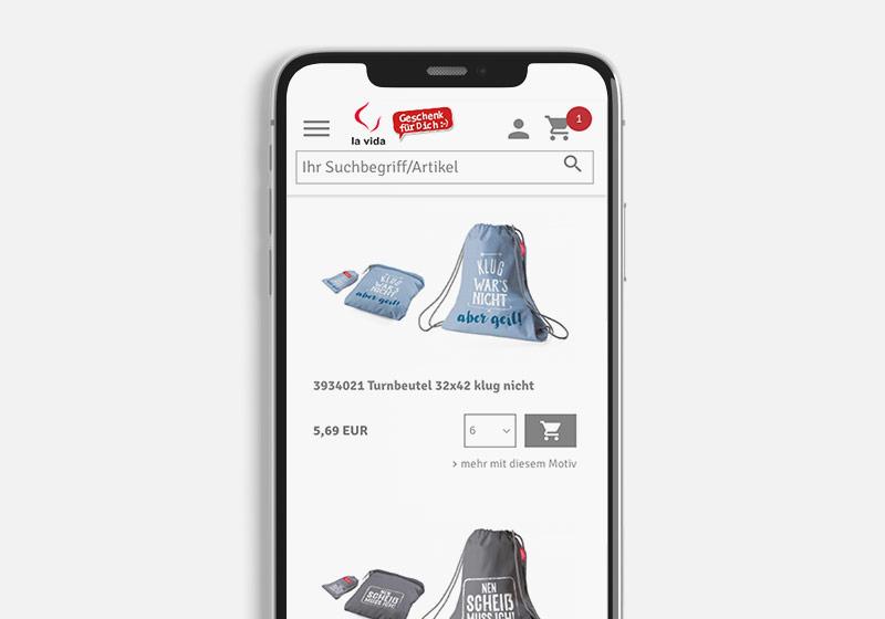 Onlineshop Smartphone Kategorie Design