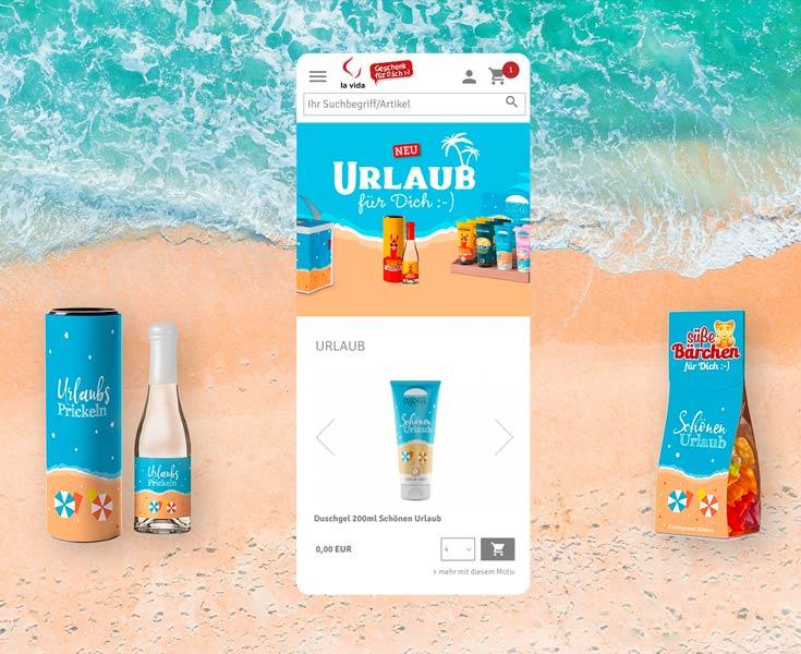 Webdesign Onlineshop la vida / Geschenk für Dich