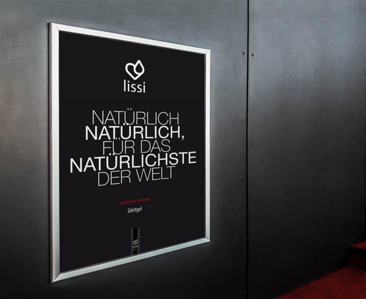 Plakat für lissi: Natürlich natürlich, für das Natürlichste der Welt.