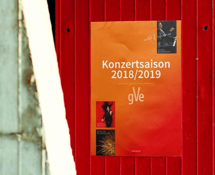 Design eines Plakats für die Saison 2018/2019 für gVe