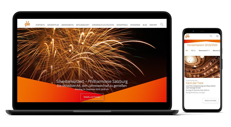 Responsive Webdesign für gVe Erlangen