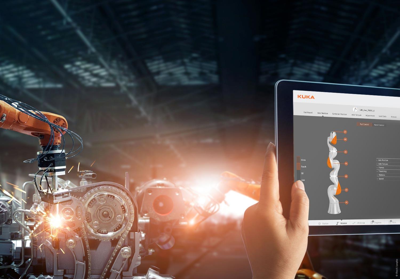 User Interface Konzept zur Steuerung eines Roboters in der Fabrik